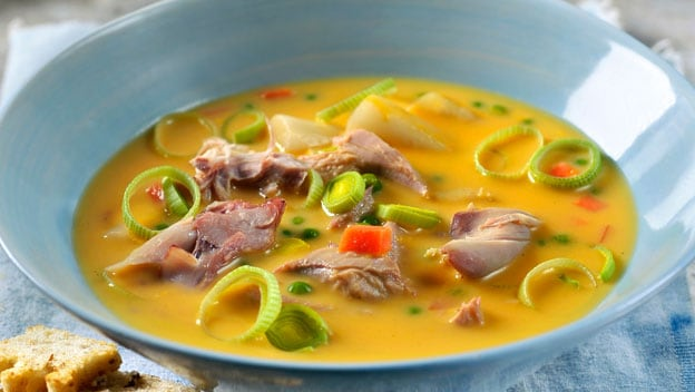 Hearty game and vegetable soup