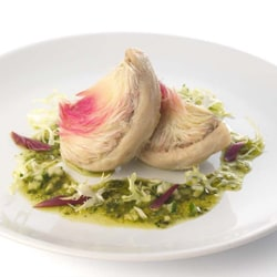 Artichokes with salsa verde